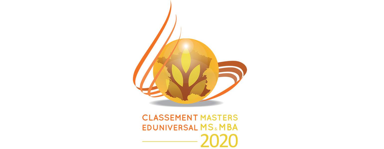 Kedge Design School Numéro 3 du classement 2020 Eduniversal des meilleurs Masters, MS et MBA - KEDGE
